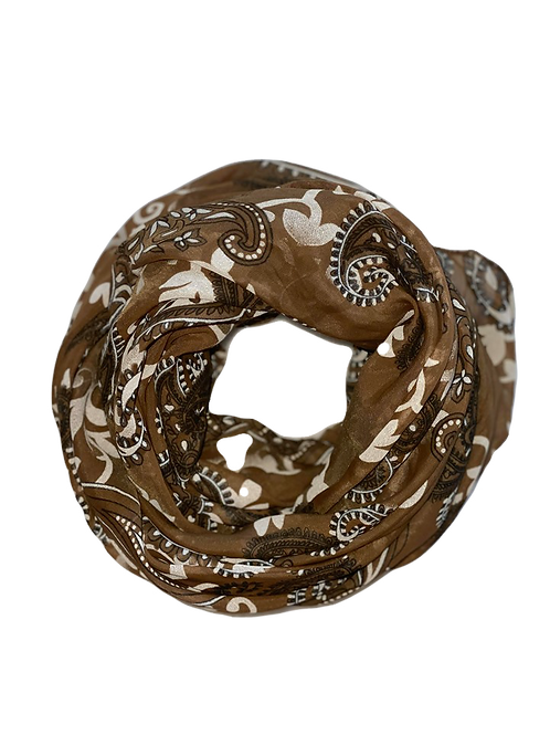 Paisley Silk/Cotton Oblique Cut Scarf