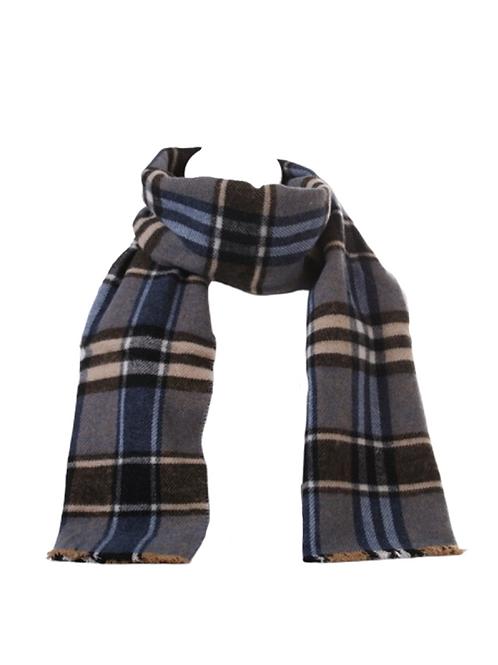 Unisex Plaid Woolen Scarf