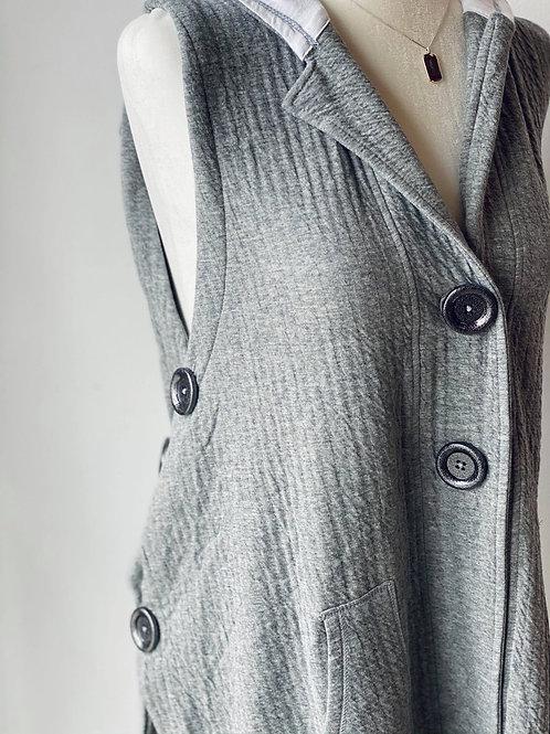 Big Button Hooded Vest