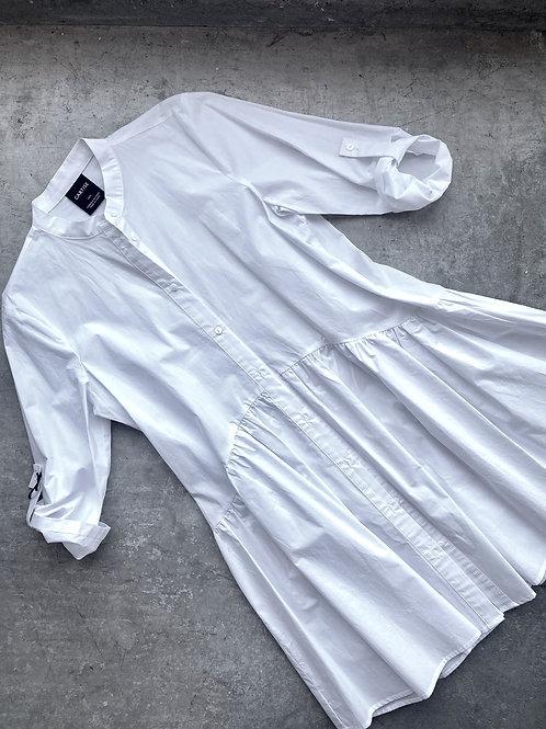 White Cotton Button Up Tunic
