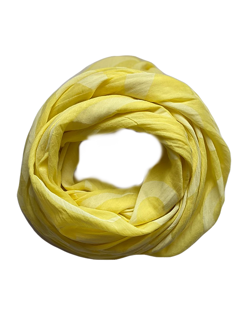Waved Silk/Cotton Oblique Cut Scarf