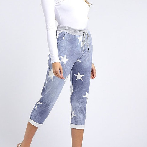 Star Crop Cotton Comfort Pant