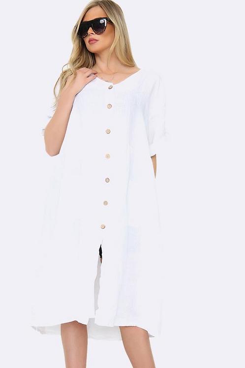Linen Button Up