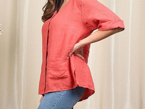 Petite Linen Jacket/Top