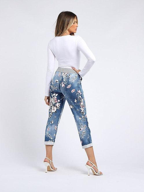 Cotton Floral Comfort Pant