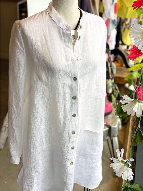 Linen in White Q'Neel Jacket or Blouse