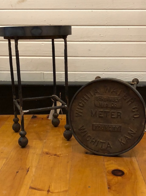 Vintage Water Meter table