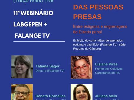 Familiares de pessoas presas é tema de webinário com LabGEPEN e TV Falange