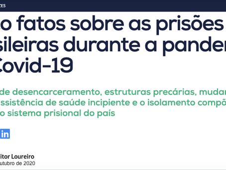 Covid-19 nas prisões é tema de artigo no Fonte Segura