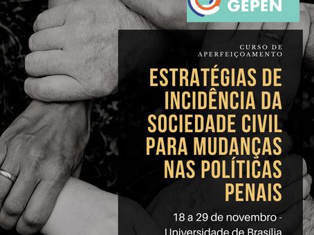 LabGEPEN lança curso voltado à incidência civil em políticas penais
