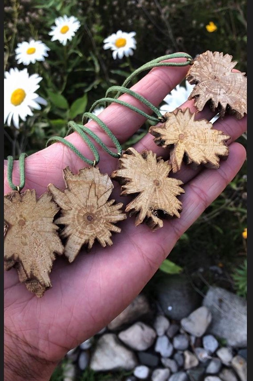 1 palo star pendant , natural wooden necklace