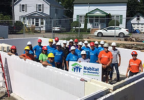 Photo of NCLA members at Habitat for Humanity build