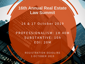 16th Annual Real Estate Law Summit