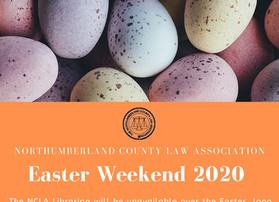 Easter Weekend 2020