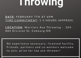 Axe Throwing with the NCLA