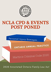 NCLA CPD and Events Post Poned