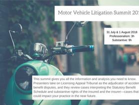 Motor Vehicle Litigation Summit 2018