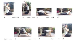 La salutation au soleil en 7 étapes partant de la position agenouillée
