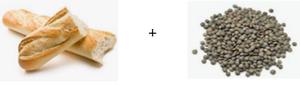 Associer les protéines végétales (pain et lentilles)
