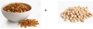 Associer les protéines végétales (Kamut et pois chiches)