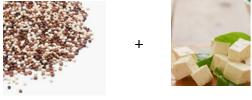 Bien associer les protéines végétales : quinoa et tofu