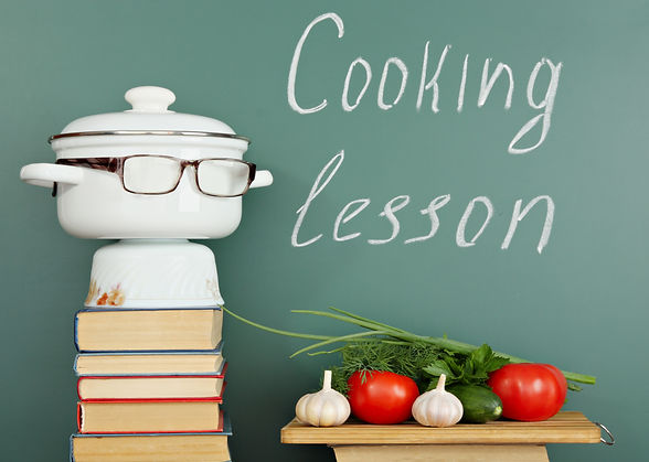 Unusual education idea, cooking lesson.j