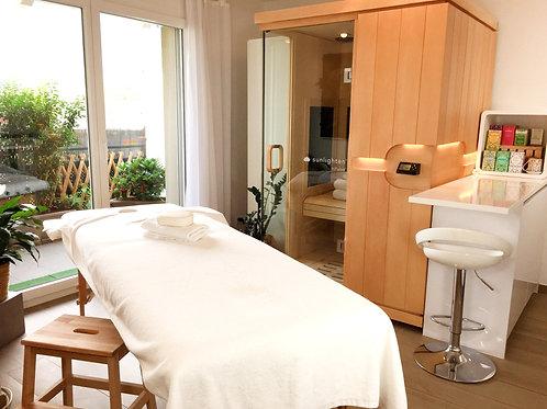 Séance de sauna infrarouge après massage 40min