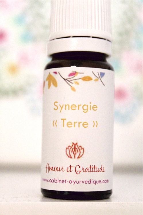 "Synergie ""Terre"" : Vetiver, Marjolaine..."