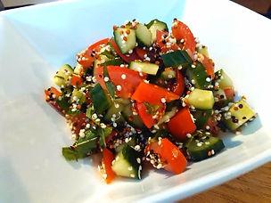 Salade de quinoa germé