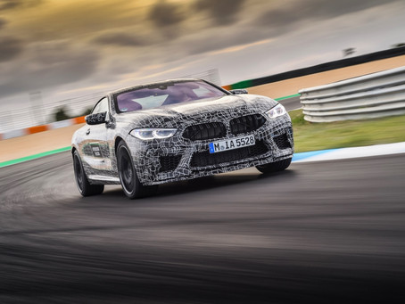 The new BMW M8 en route to series production.