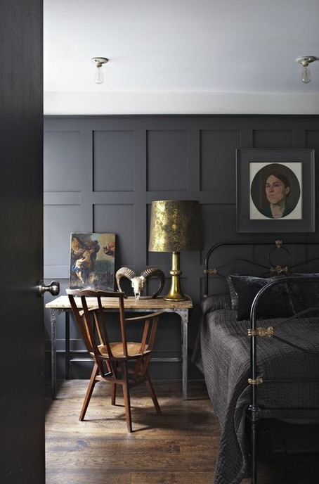 We all need that Dark Corner ! Have a look at our very best ideas for Dark Interiors