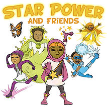 Star Power and Friends Comic Cover Squar