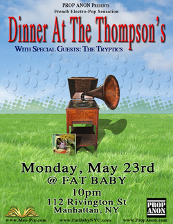 Dinner at The Thompson's Flyer