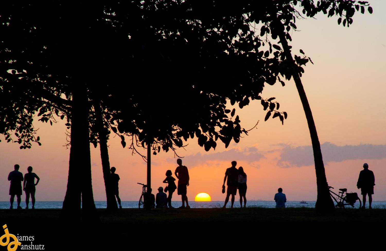 Hawaii sunset picture Honolulu