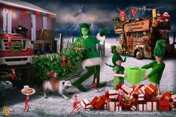 Grinch Family Christmas Card