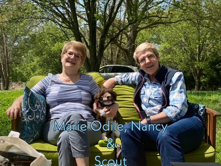 Marie-Odile, Nancy and Scout