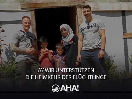 Hilfe vor Ort ist mehr als ein Wort - AHA!