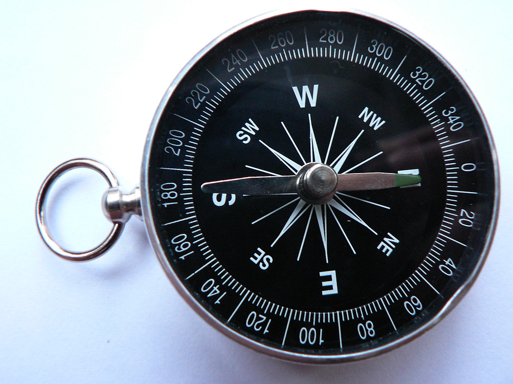 A compass can be a cheap alternative to a K-2 Meter