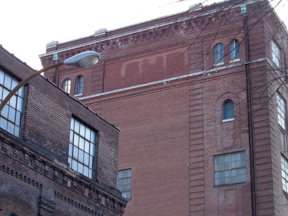 "A Lemp Brewery ""ghost sign"" seen at the intersection of DeMenil Place and Cherokee Street"