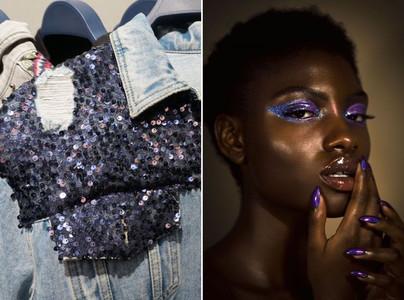 Inspiração gliter e paete - jaqueta e Modelo