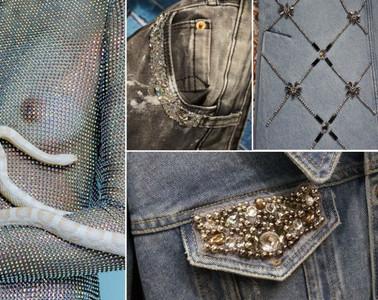 Inspiração gliter e paete - peças de roupa