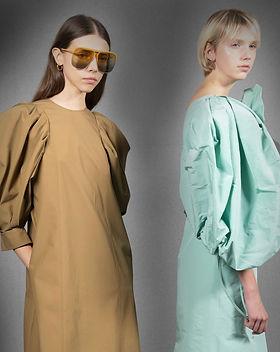 Duas modelos em editorial de moda