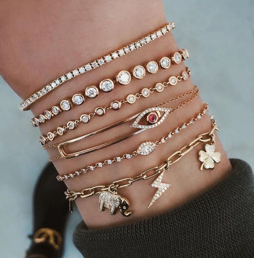 Conjunto de pulseiras @lskyejewelry