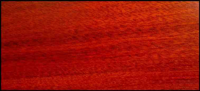 Example of Bloodwood for hardwood flooring, millwork, stairs, cabinets, doors and more available from Prodigy Hardwood Interiors.