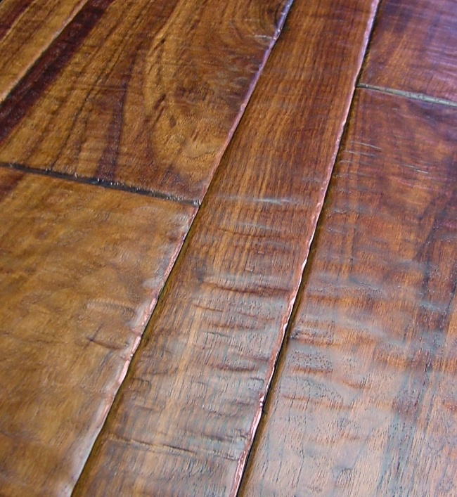 Sculpted Walnut Flooring