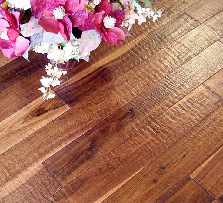 Rippled Walnut Flooring