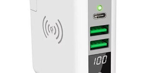 6700mAh Wall Charger Wireless Power Bank Super Charger with LCD Display