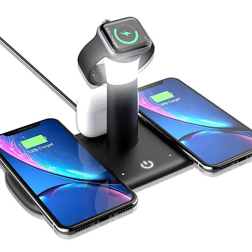 4 in 1 Wireless Charging Station, 15W QI Certified Fast Charger for Apple