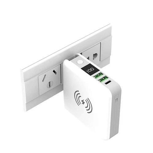 10000mAh Wireless Wall Charger Power Bank