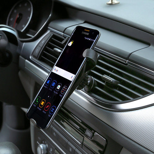 N5 QI wireless portable car charger air vent mount